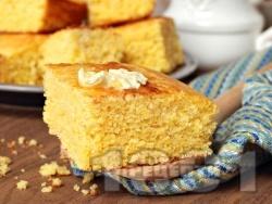 Лесен и пухкав лимонов кекс с кисело мляко и глазура - снимка на рецептата